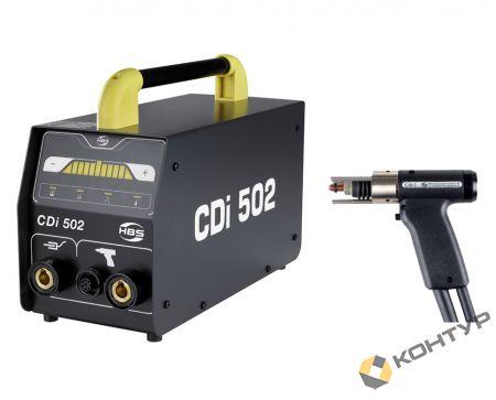 Блок питания CDi 502  со сварочным пистолетом С06-3, кабелем заземления и набором зажимов-фиксаторов
