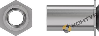 Резьбовая втулка (тип CSS, CSOS нерж.сталь) для установки во фрезерованное непроходное отверстие