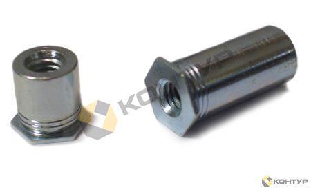 Втулка резьбовая полнопроходная тип SOS, SO4 (нержавеющая сталь)