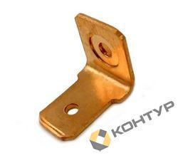Приварной контакт заземления - однолепестковый (сталь омедненная)