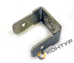 Приварной контакт заземления двухлепестковый (сталь нержавеющая)