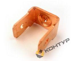 Приварной контакт заземления двухлепестковый (сталь омедненная)