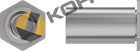 Втулка резьбовая неполнопроходная тип TR - BSOA (АЛЮМИНИЙ)