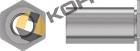 Полнопроходная (сквозная) резьбовая втулка с шестигранным основанием  для минимальной толщины металла 0,63 мм . Тип TSO, TSOA, TSOS